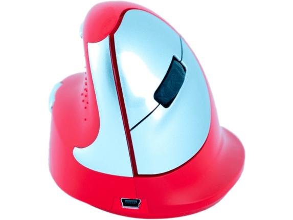 R-Go Tools Sport Bluetooth Vertical Ergo Mouse, Medium, Left Hand, Red RGOHEREDL -