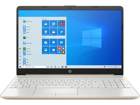 "HP Laptop - 15t-dw200 Intel Core i7 10th Gen Intel Iris Plus Graphics 12 GB DDR4 15.6"" Display Windows 10 Home 64 8WL84AV_100060 - Pale Gold + Natural Silver"