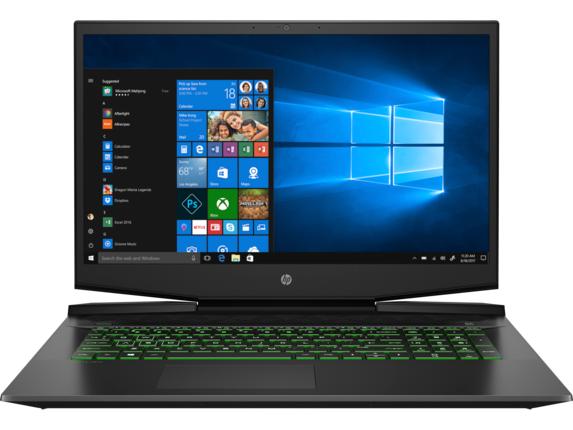 HP Pavilion Gaming Laptop - 17t-cd100 Intel Core i7 10th Gen NVIDIA GeForce GTX 1660 Ti with Max-Q design 16 GB DDR4 Windows 10 Home 64 8WW21AV_100042 - Acid Green