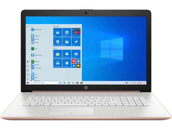 "HP Laptop - 17z-ca300 Touch Screen optional AMD Ryzen 7 AMD Radeon Graphics 12 GB DDR4 17.3"" Display Windows 10 Home 64 1D3E3AV_100046 - Pale Gold + Natural Silver"