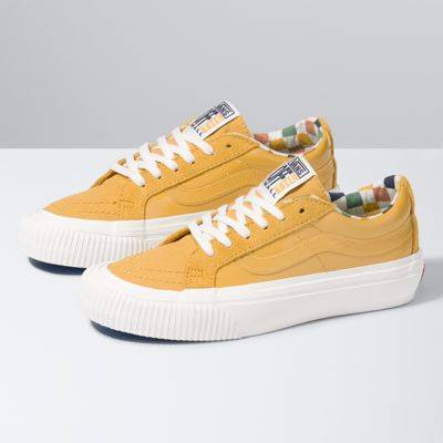 Vans Karina Rozunko Sk8-Low Reissue SF (Patent/Honey Gold)  - Size: adult