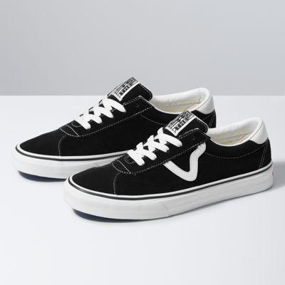 Vans Suede Vans Sport (Black)  - Size: adult