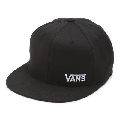 Vans Splitz Flex Fit Hat (Black)  - Size: adult