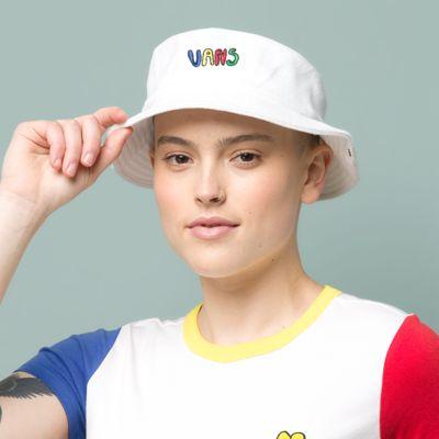 Vans Brighton Bucket Hat (White)  - Size: adult