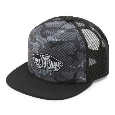 Vans Boys Classic Patch Trucker Plus Hat (Checker Camo)  - Size: kids