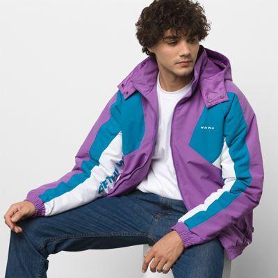 Vans Hi-Point Blocked Sport Jacket (Dewberry/Turkish Tile)  - Size: adult