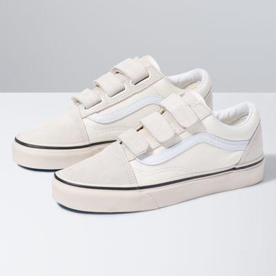 Vans Old Skool V (Marshmallow/Turtledove)  - Size: adult