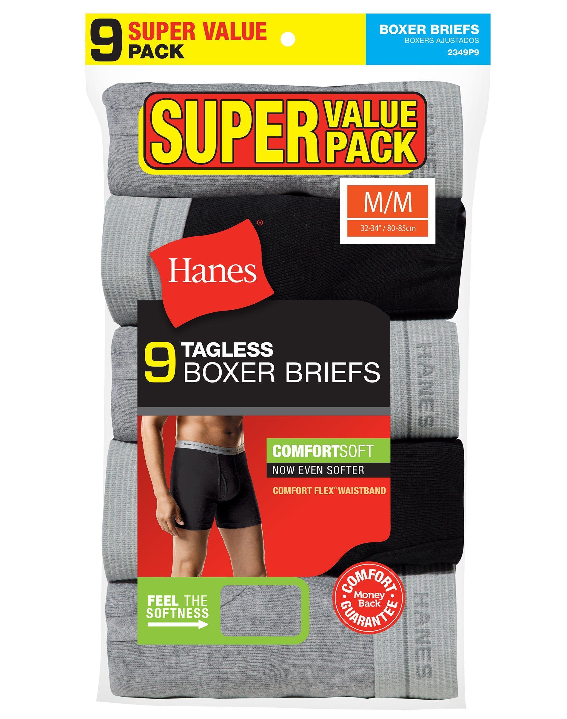 Hanes Men's Boxer Briefs Super Value 9-Pack Assorted M