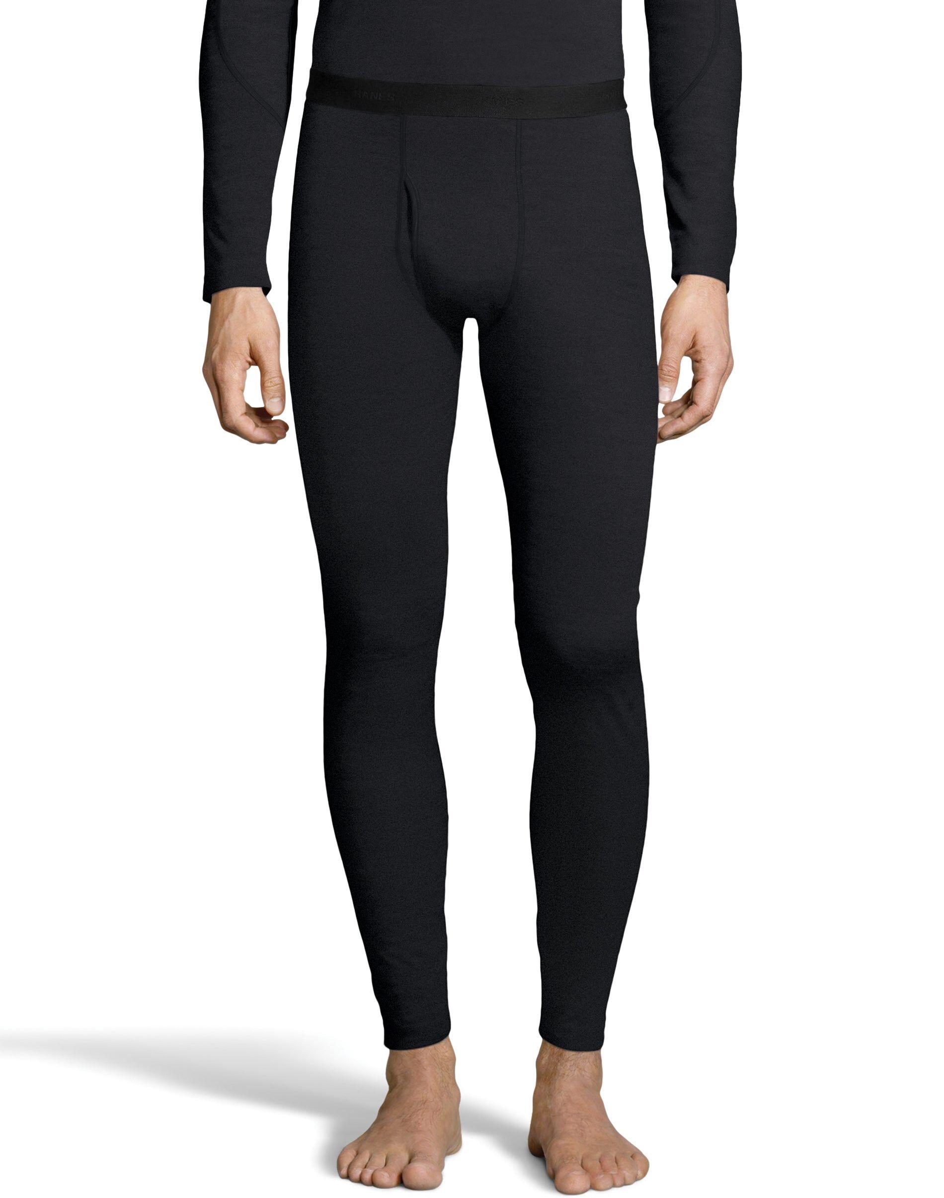 Hanes Men' Thermowool Pant Black XL