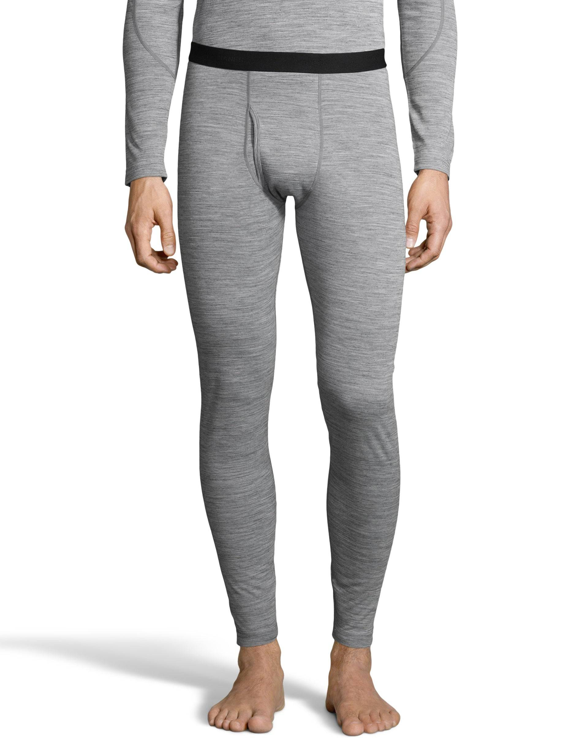 Hanes Men' Thermowool Pant Heather Grey M