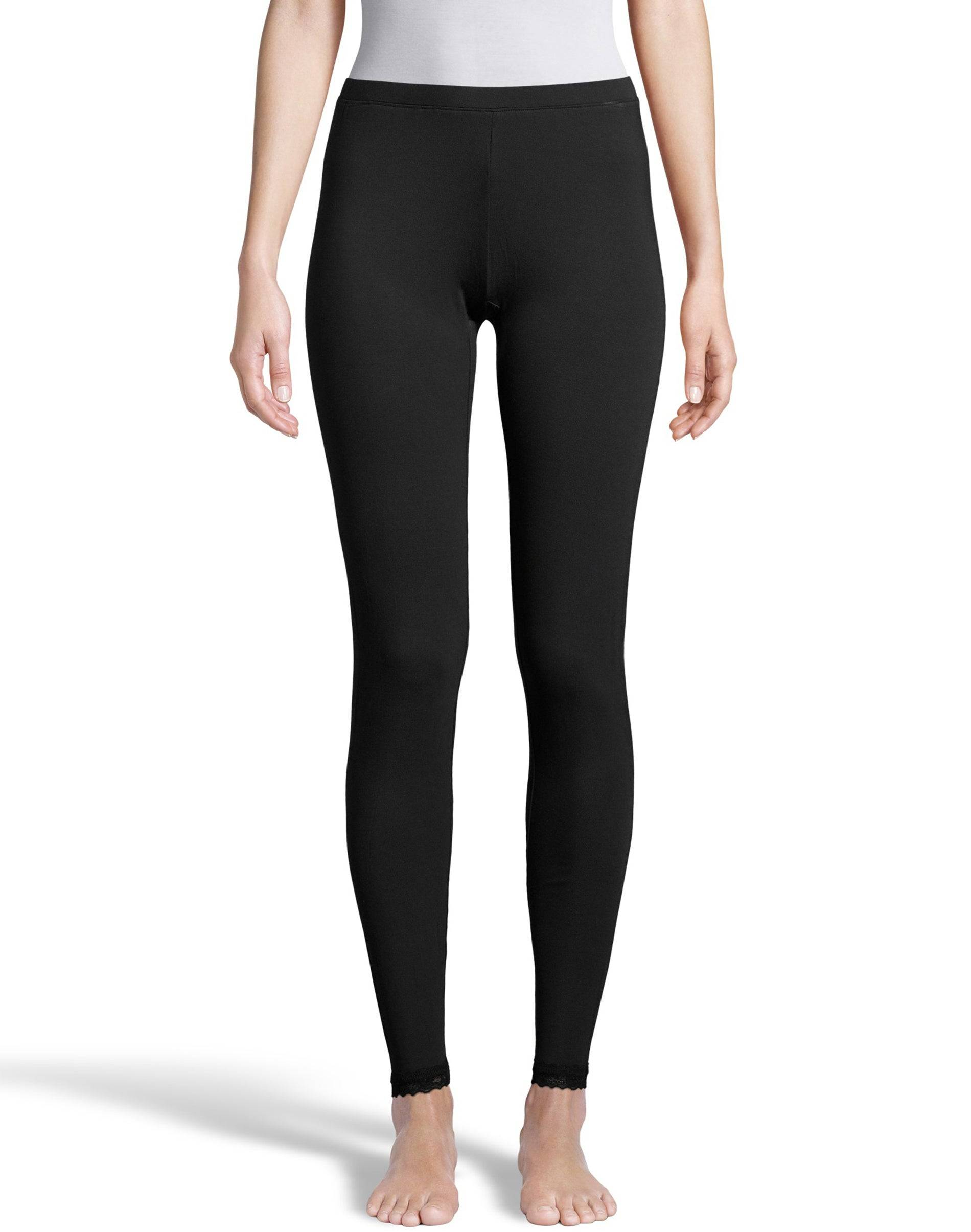 Hanes Women's Comfort Collection Thermal Pant Black L