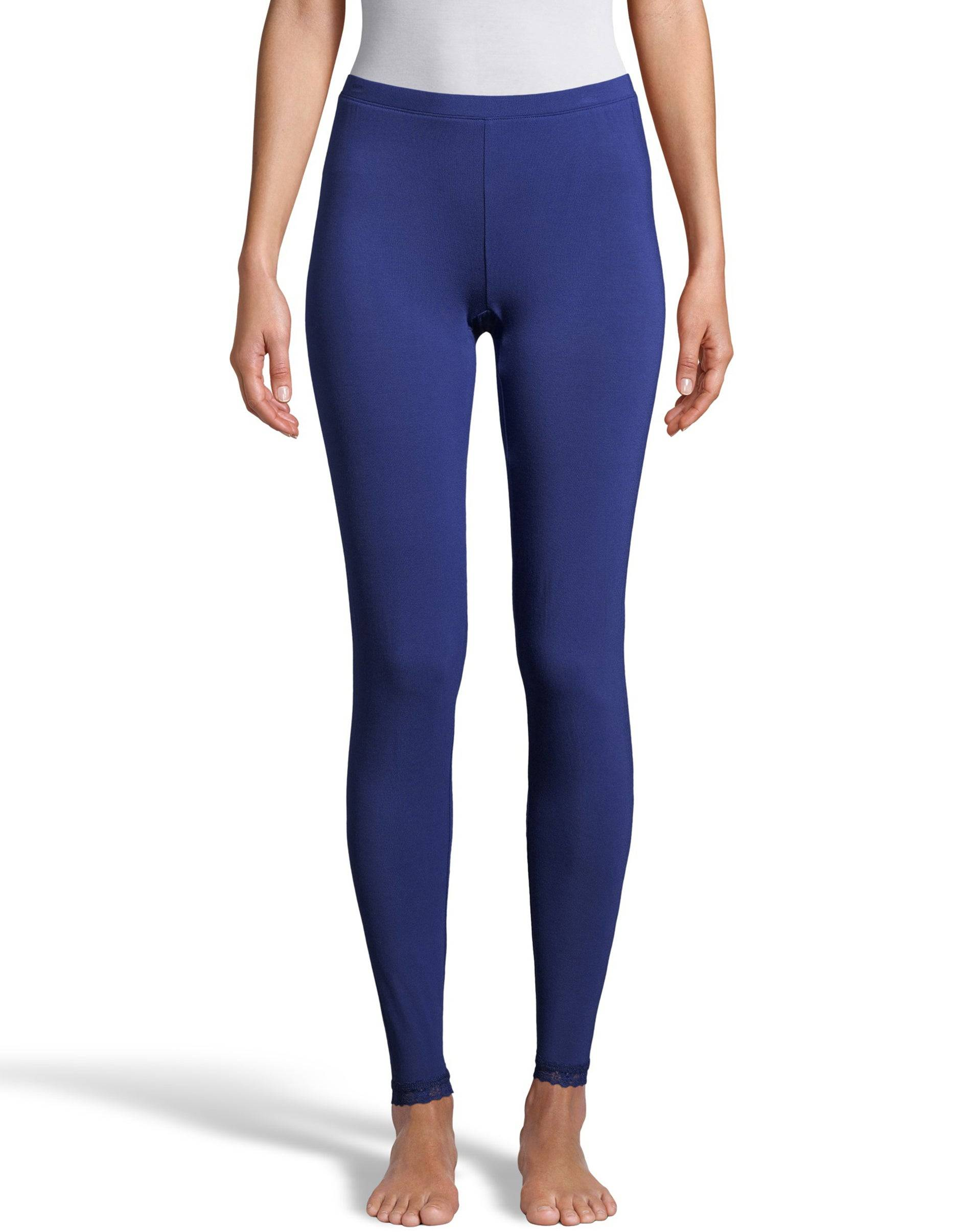 Hanes Women's Comfort Collection Thermal Pant Blue M