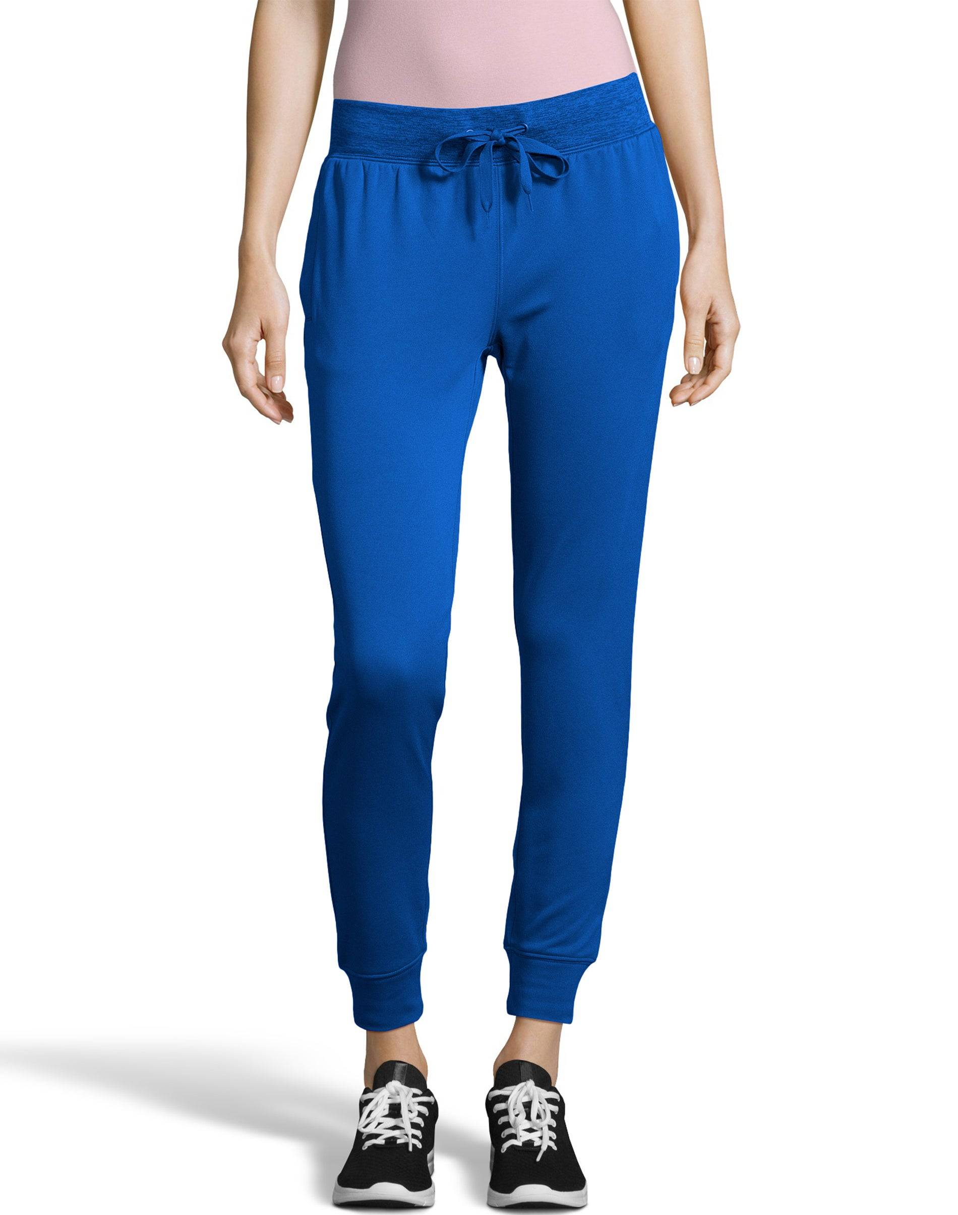 Hanes Sport Women's Performance Fleece Jogger Pants With Pockets Awesome Blue/Awesome Blue Heather M