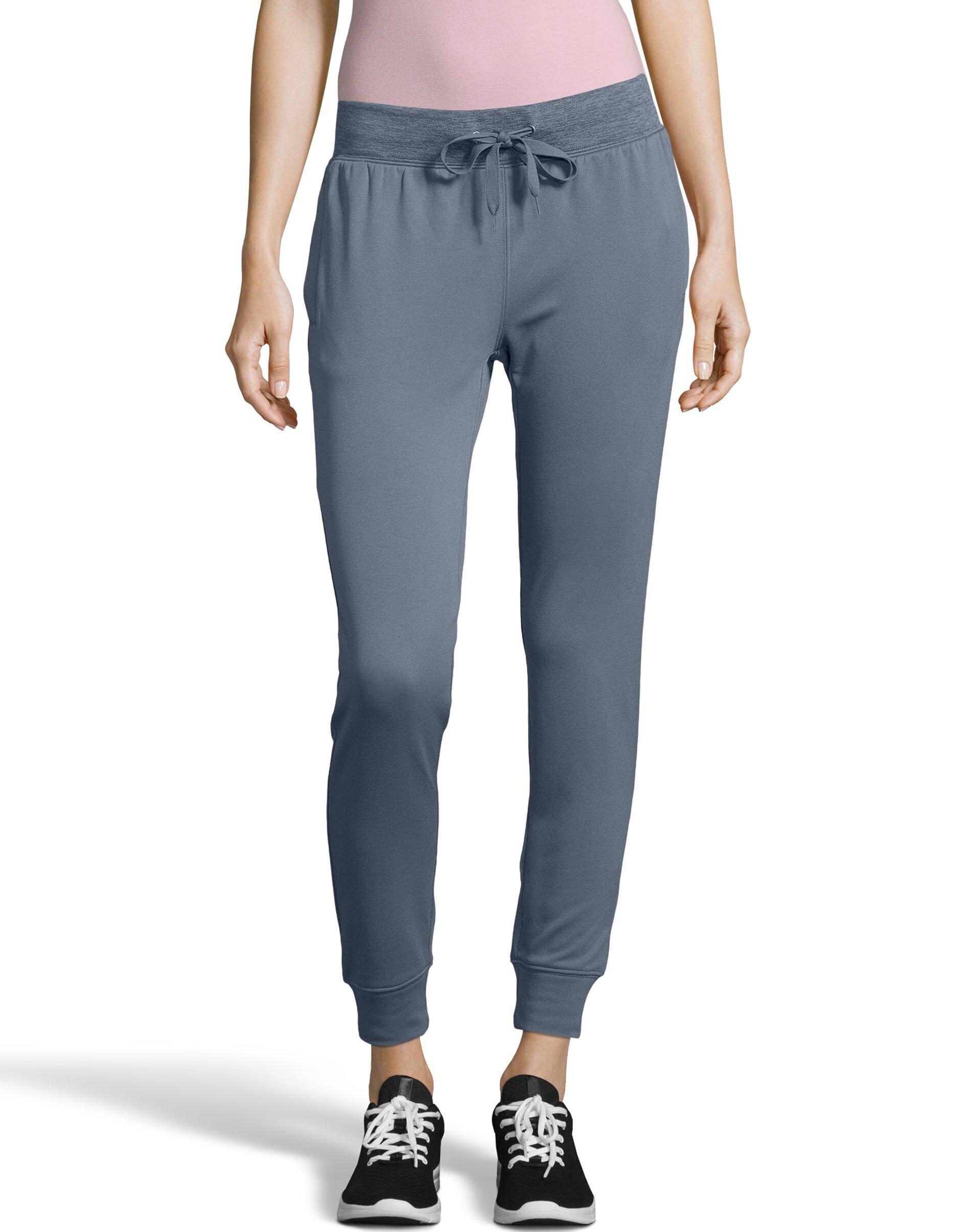 Hanes Sport Women's Performance Fleece Jogger Pants With Pockets Dada Grey/Dada Grey Heather XL