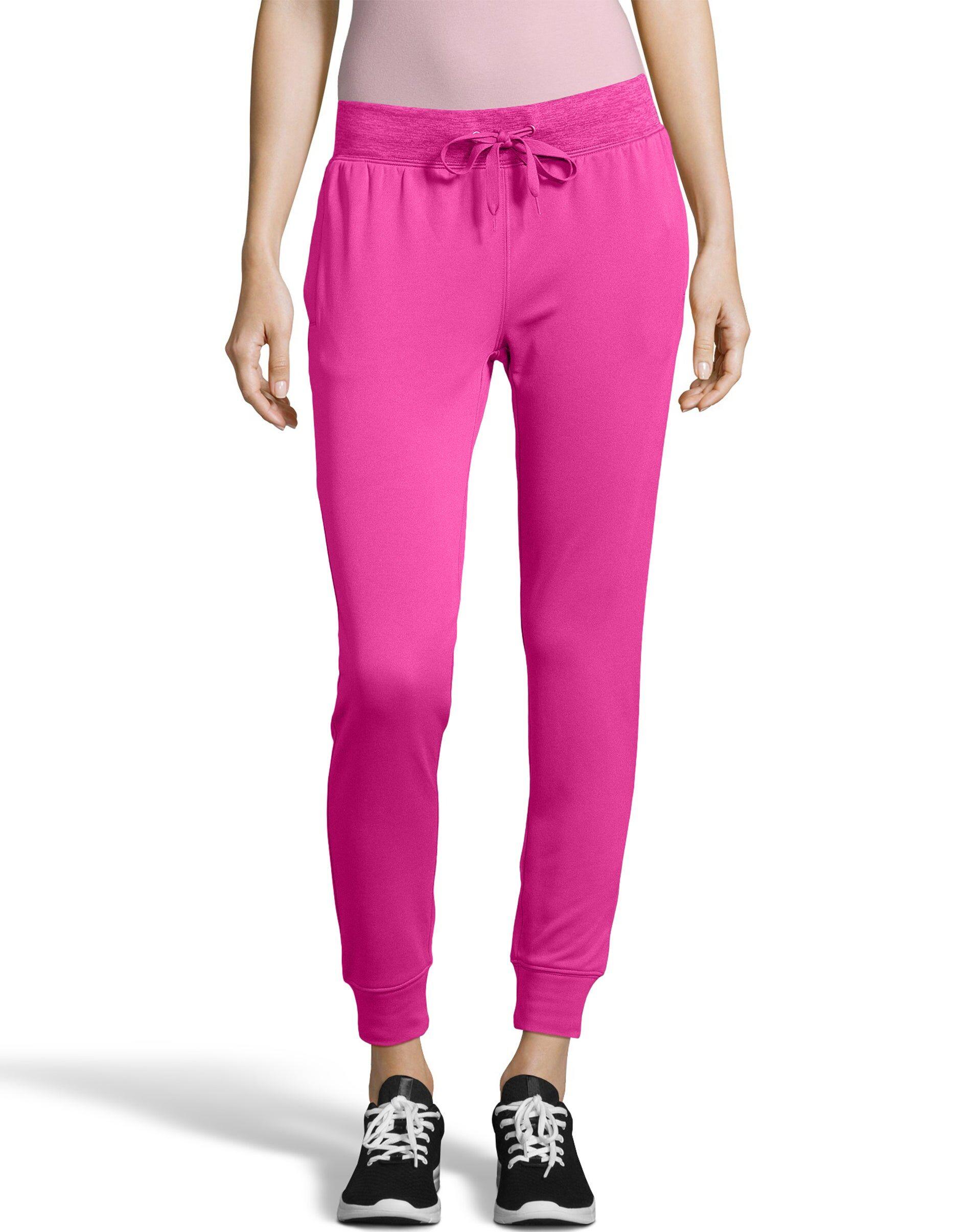 Hanes Sport Women's Performance Fleece Jogger Pants With Pockets Fresh Berry/Fresh Berry Heather M
