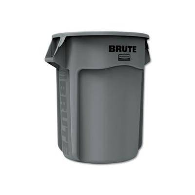 """Rubbermaid Commercial """"""""""""Rubbermaid Brute 55 Gallon Vented Round Trash Can, Gray, Each (RCP265500GY)"""""""""""""""