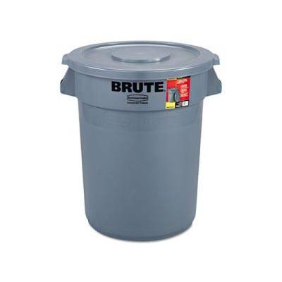 """Rubbermaid Commercial """"""""""""Rubbermaid Brute 32 Gallon Round Trash Can with Lid, Gray (RCP863292GRA)"""""""""""""""