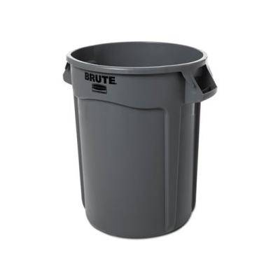 """Rubbermaid Commercial """"""""""""Rubbermaid Brute 32 Gallon Round Vented Trash Can, Gray (RCP263200GY)"""""""""""""""