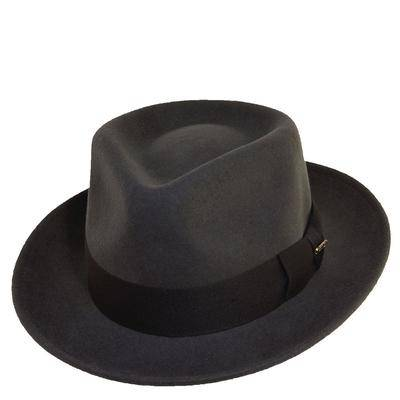 Scala Classico Men's Crushable C Crown Fedora Grey Size L