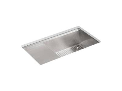 """Stages™ 33"""" x 18-1/2"""" x 9-13/16"""" Undermount single-bowl workstation kitchen sink with wet surface area"""