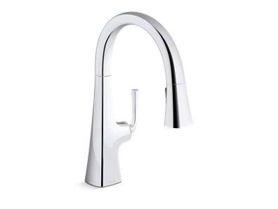 Graze® Pull-down kitchen sink faucet with three-function sprayhead