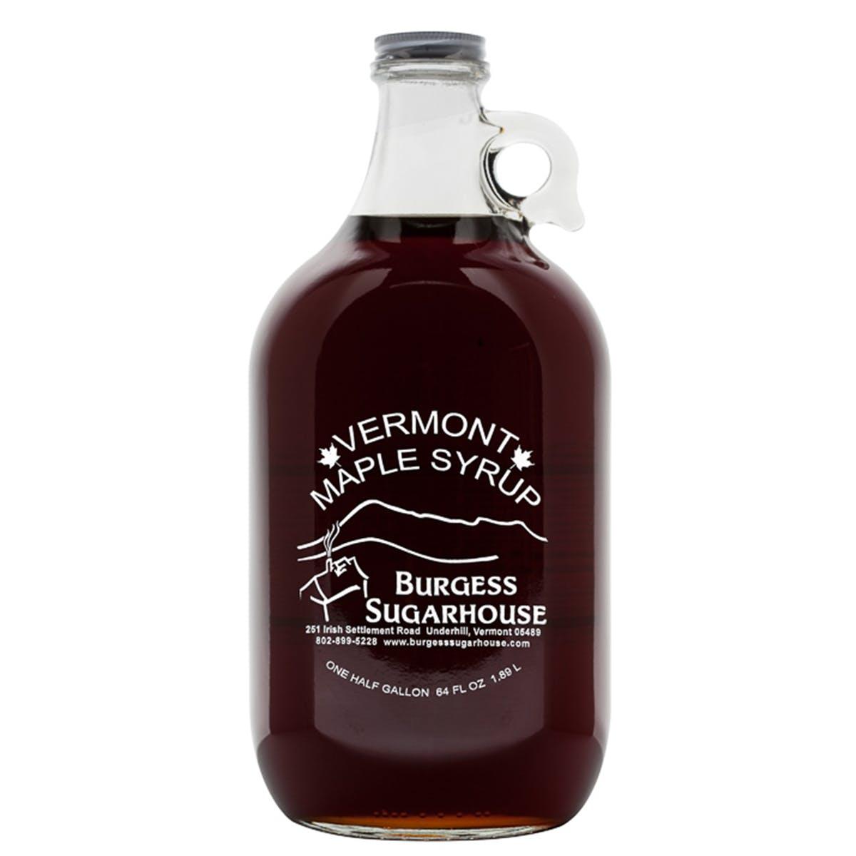 Burgess Sugarhouse - Grade A: Dark Color with Robust Taste 1/2 Gallon