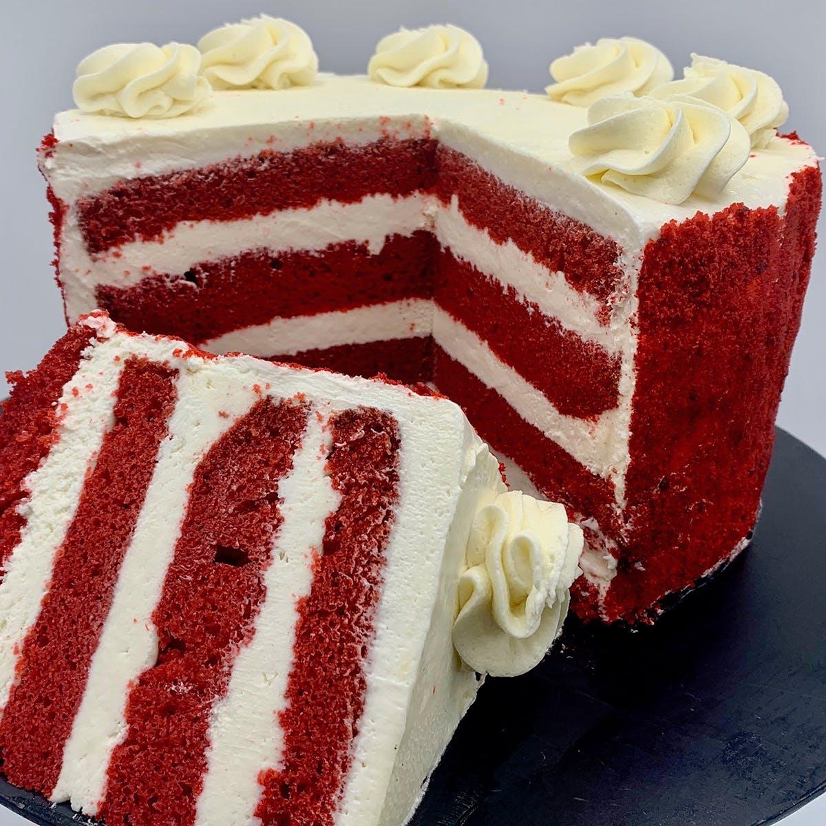 """The Goddess and Grocer - Red Velvet Cake - 8"""""""