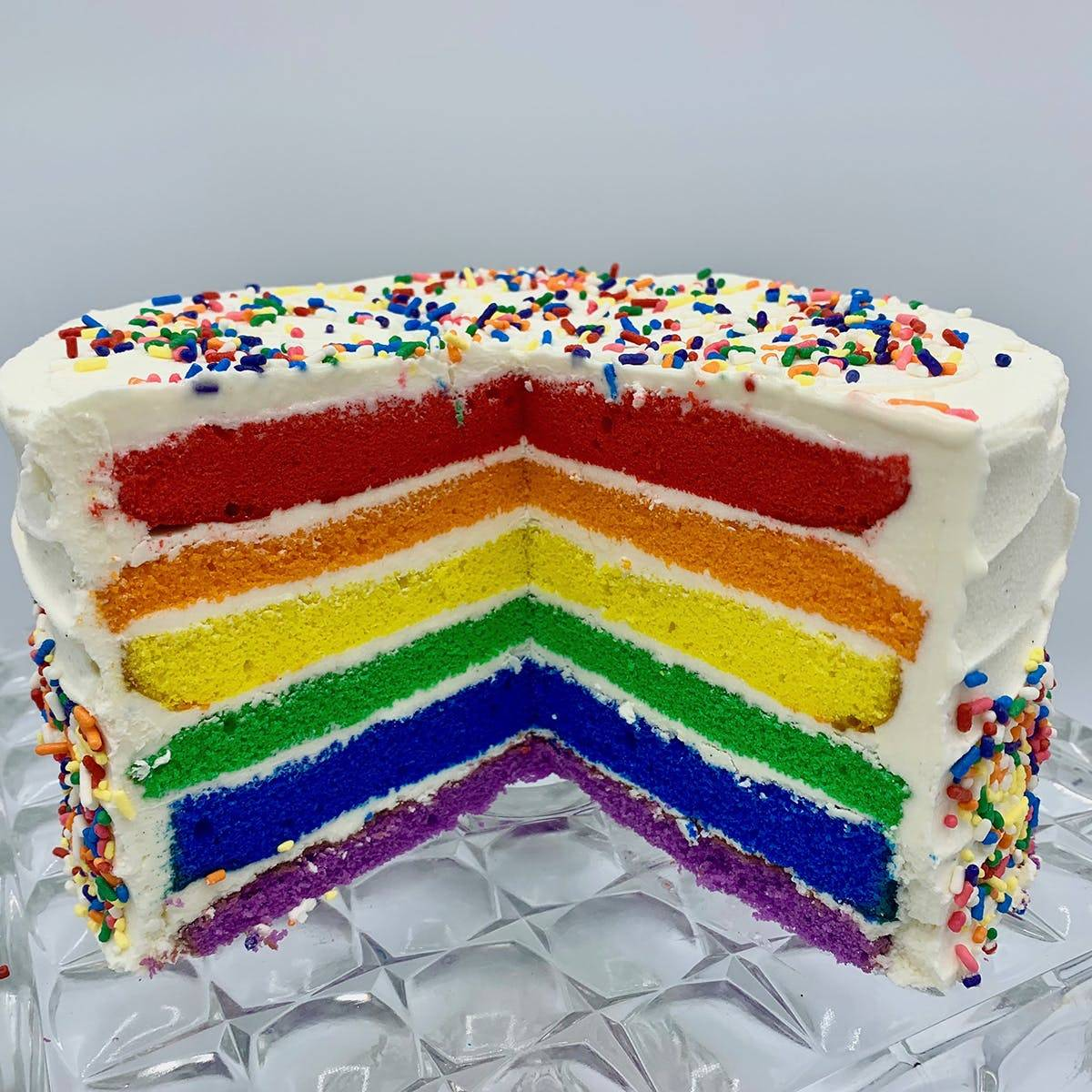 """The Goddess and Grocer - Rainbow Cake - 6"""""""