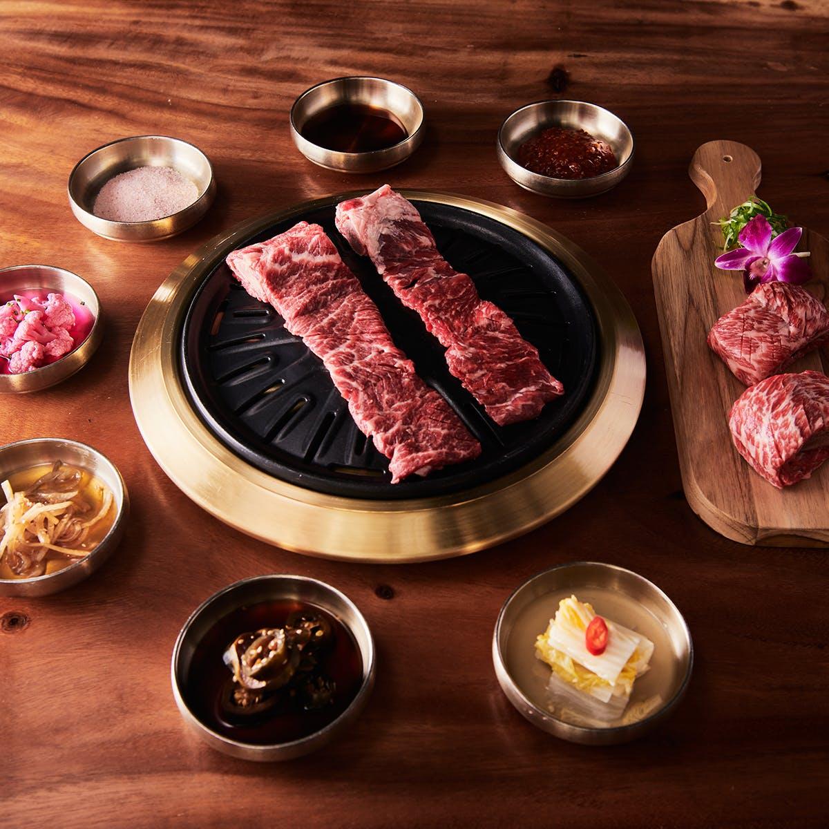 Samwon Garden Korean BBQ - Korean BBQ Galbi Beef Kit for 6-8