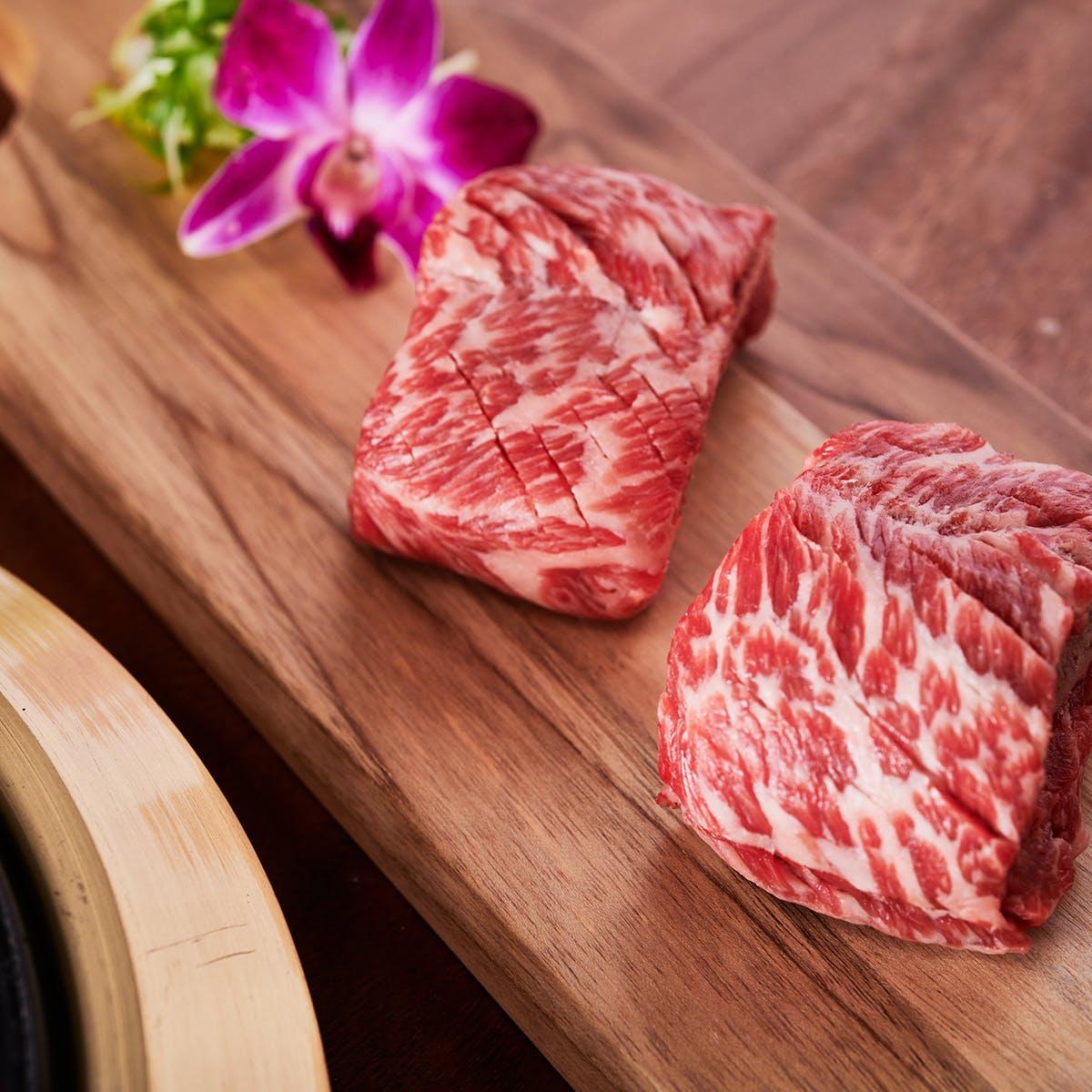 Samwon Garden Korean BBQ - Korean BBQ Galbi Beef Kit for 2-4