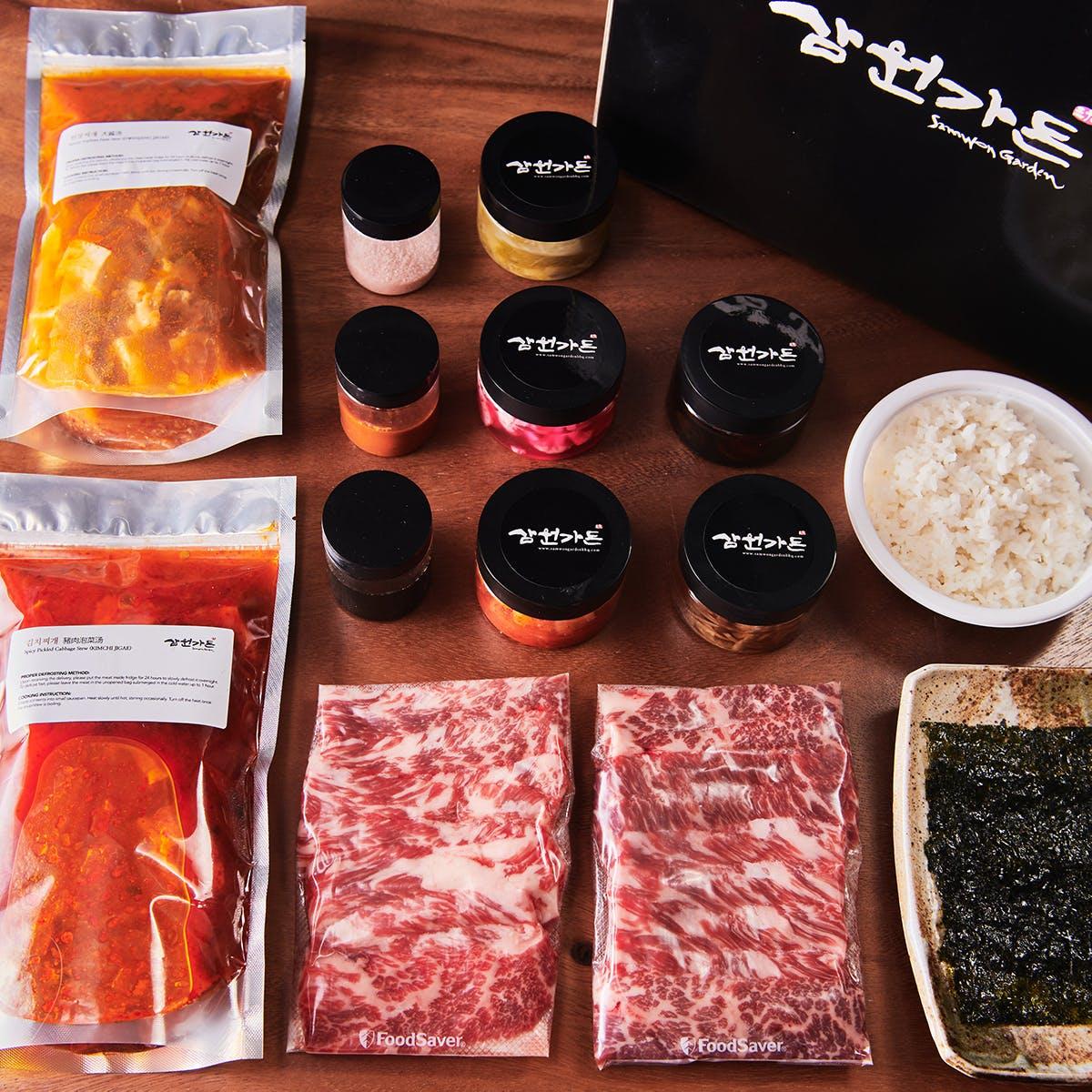 Samwon Garden Korean BBQ - Korean BBQ Short Rib Kit for 2-4
