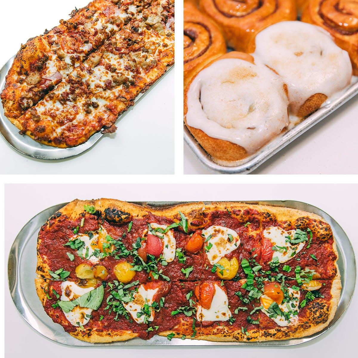 Slim & Husky's - 2 Pizzas + 12 Cinnamon Rolls - Choose Your Own