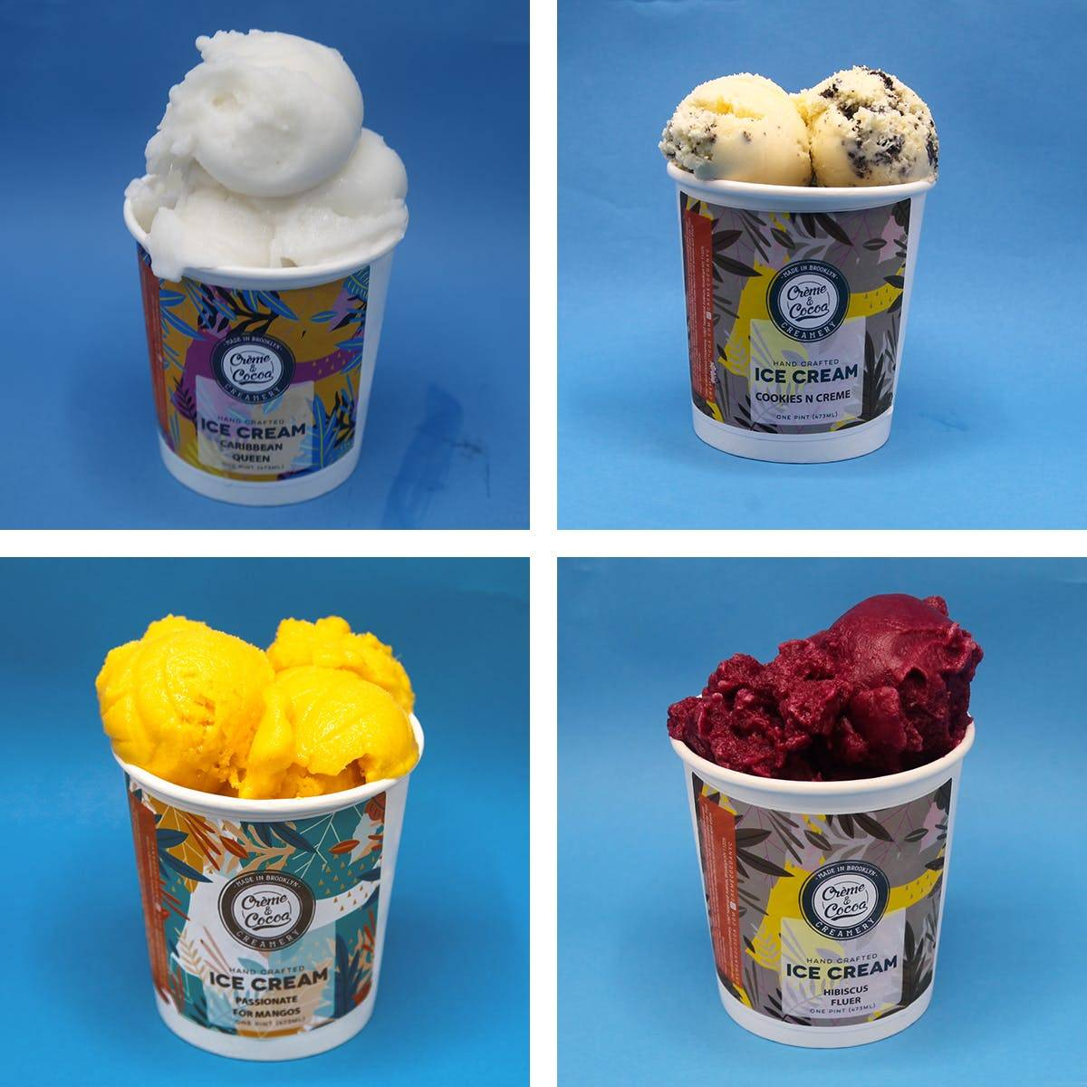 Creme and Cocoa Creamery - Ice Cream Best Sellers - 4 Pints
