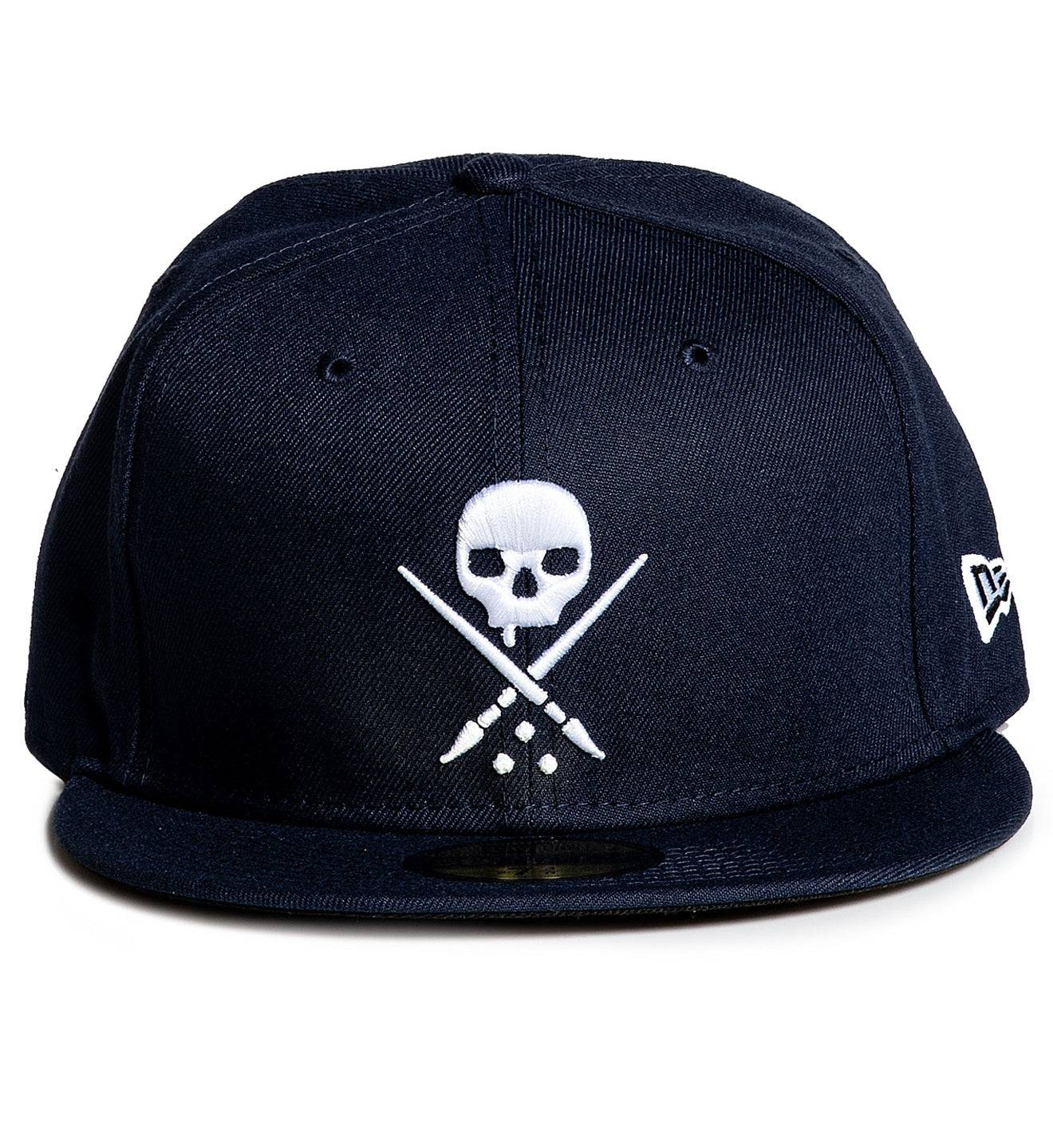Mens Fitted Badge Navy, NAVY / 73/8