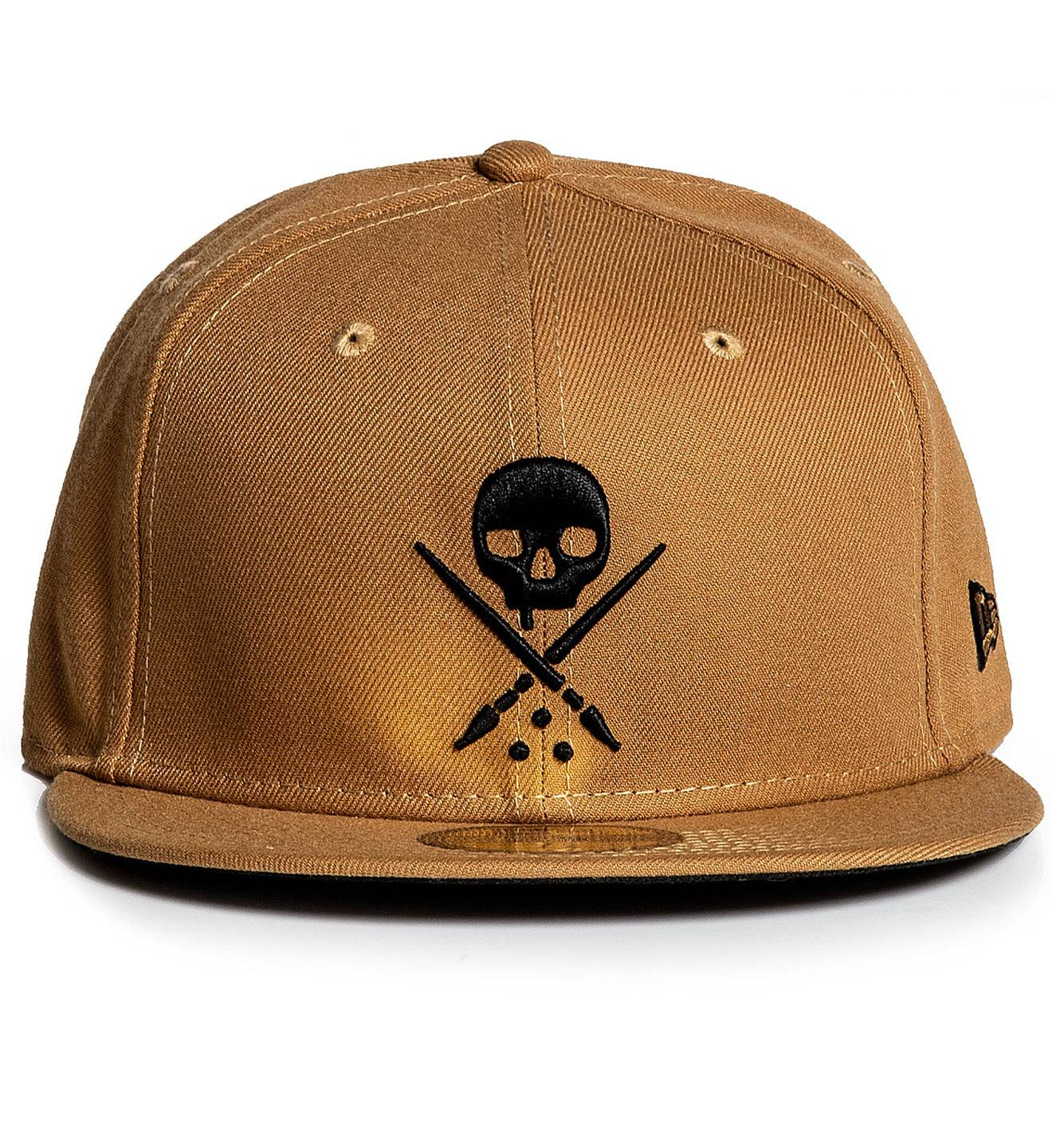 Mens Fitted Badge Wheat, WHEAT / 71/8