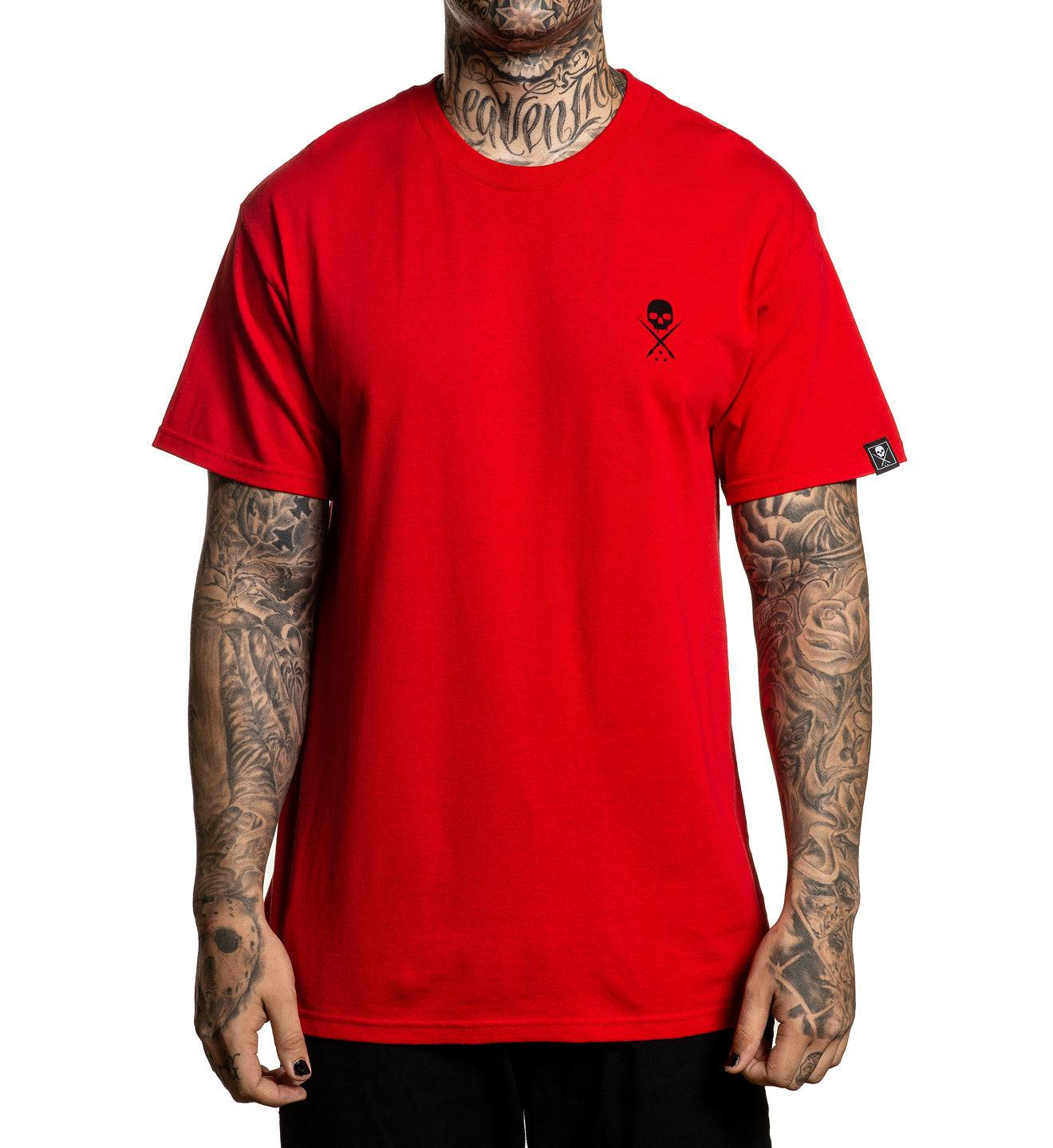 Sullen Clothing, LLC Standard Issue Tees, M / RED/BLACK