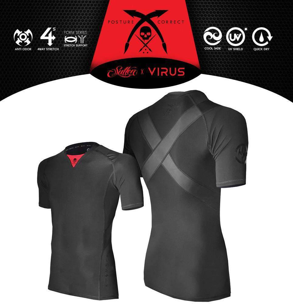 Sullen Clothing, LLC Virus X Sullen Posture Correct Top Black, 2X / Black