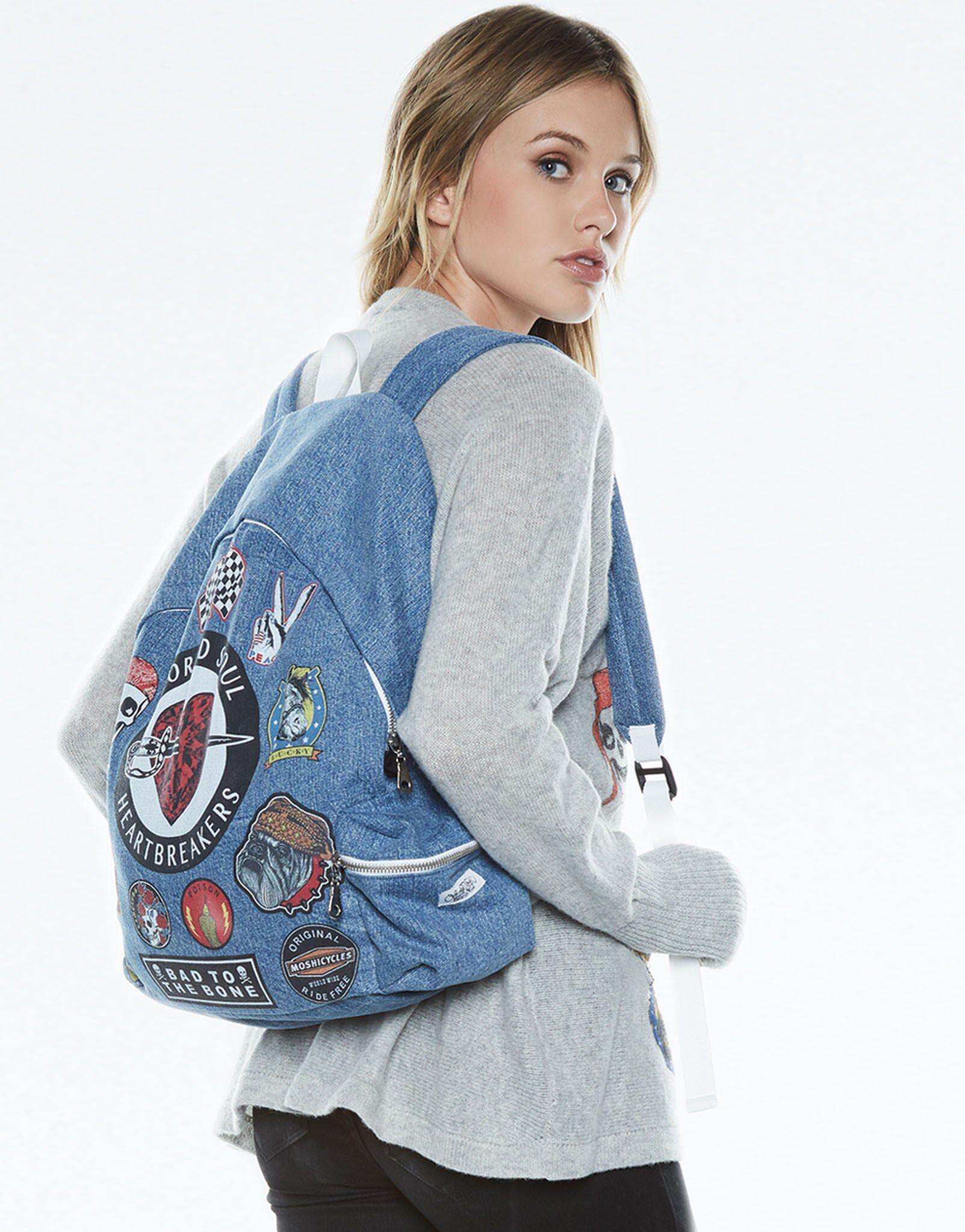 Lauren Moshi Quincy Heart Breaker Backpack - ONE Hada Mada Denim