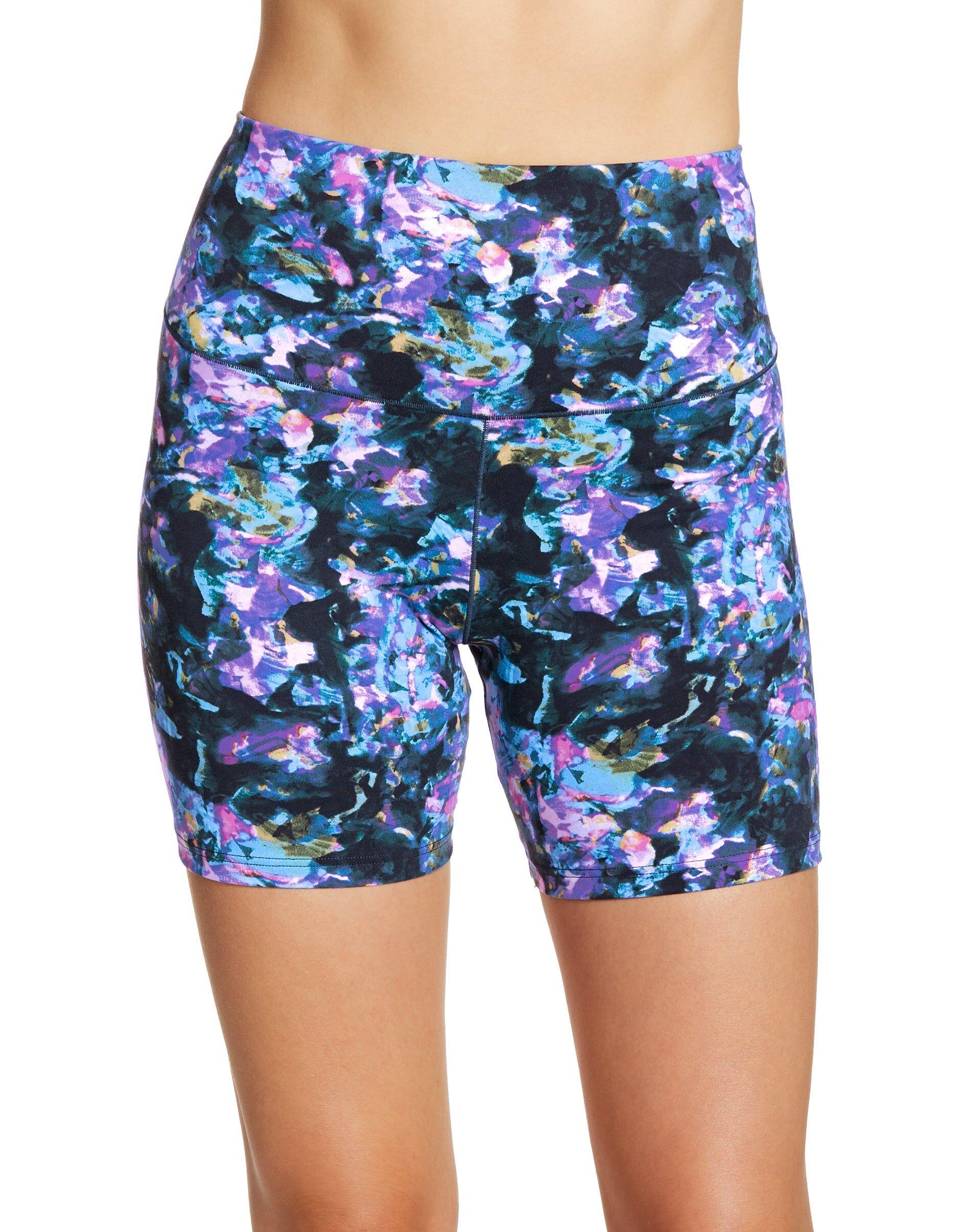 Maidenform Women's Cool Comfort Bike Short Soft Energy Floral Print/Multi XL