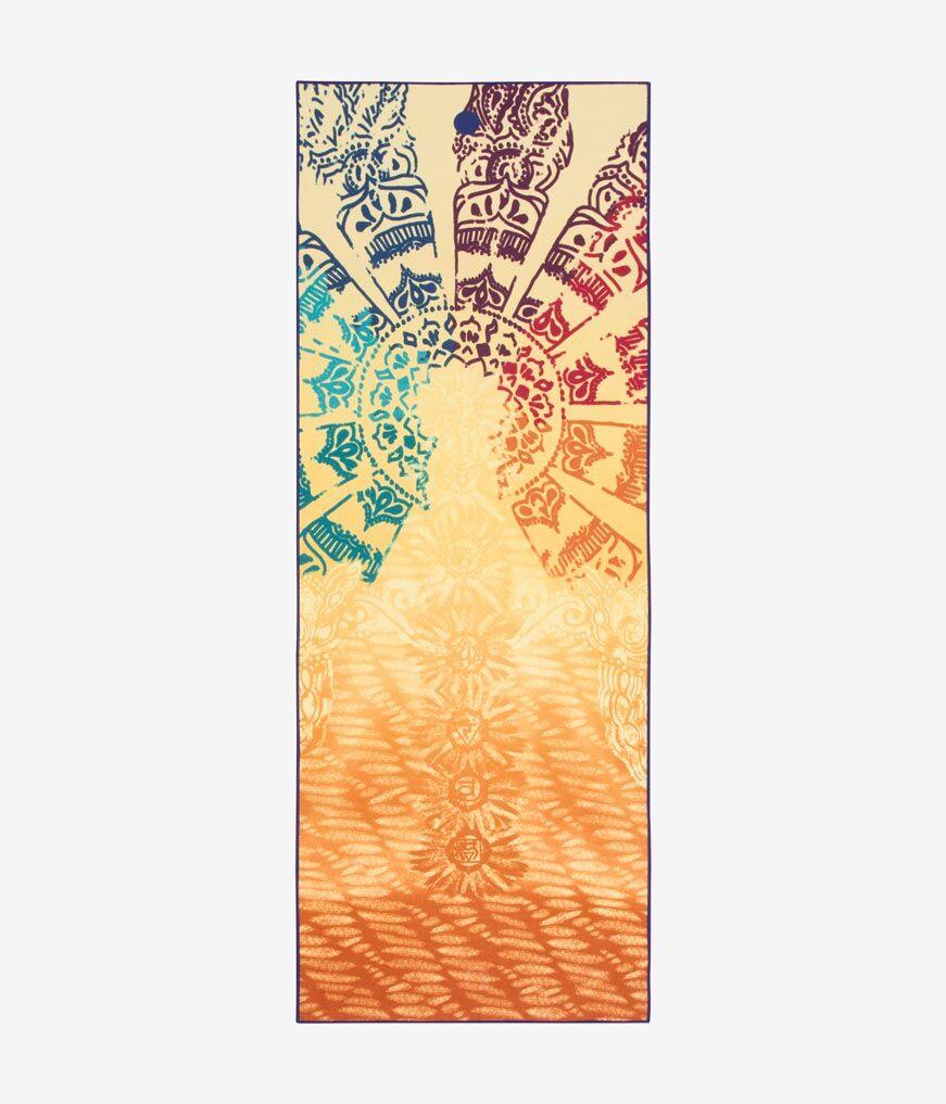 "Manduka yogitoes® yoga towel Chakra Print (Yellow) / Standard 68"" (172cm)"
