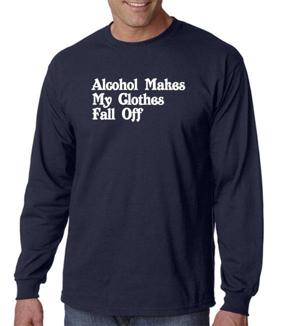 DesignerTeez Alcohol Makes My Clothes Fall Off T-shirt