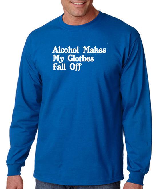 DesignerTeez Alcohol Makes My Clothes Fall Off T-shirt