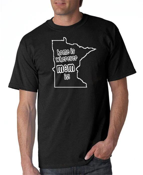 DesignerTeez Home is Wherever Mom Is - MN - T-shirt - Custom Mother's Day Gift