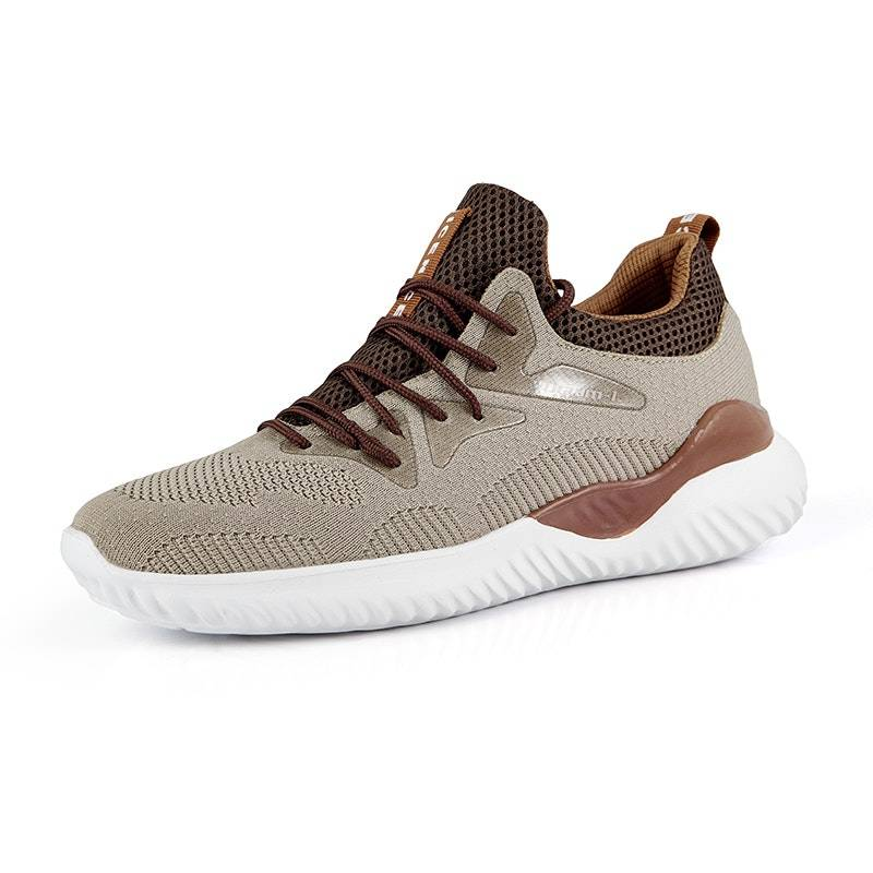 Men's Four Seasons Lace-up Breathbale Mesh Sports Shoes02635brown9.5