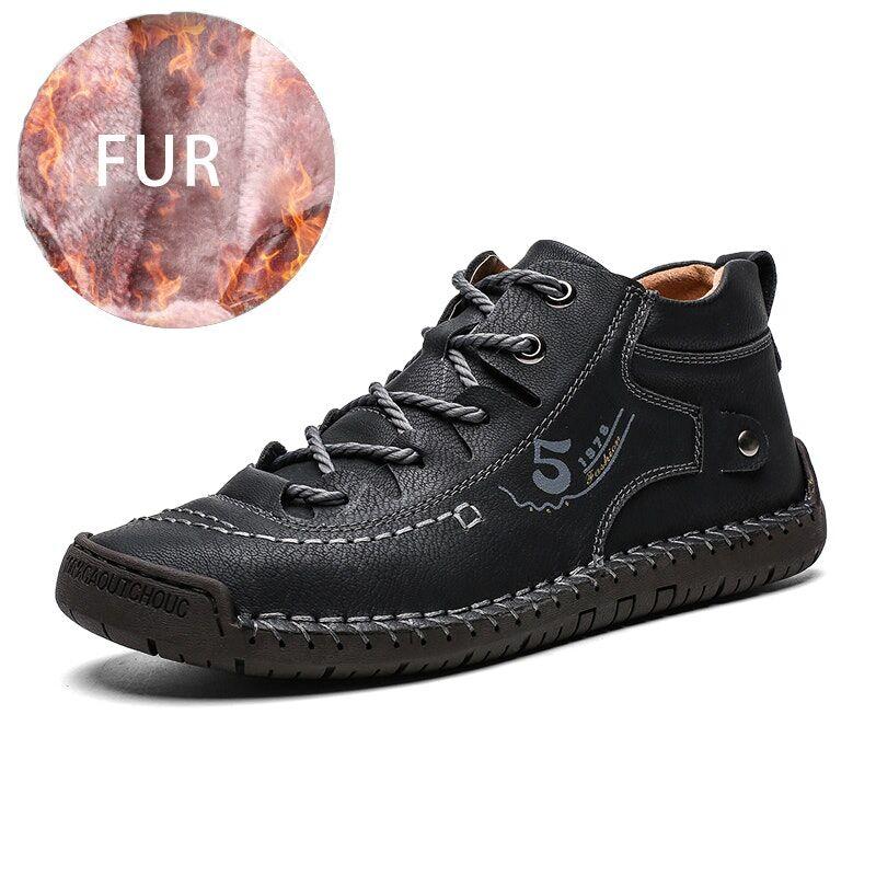 Calceus - Beau II - Casual Fur Lace Up Shoes02637black7.5