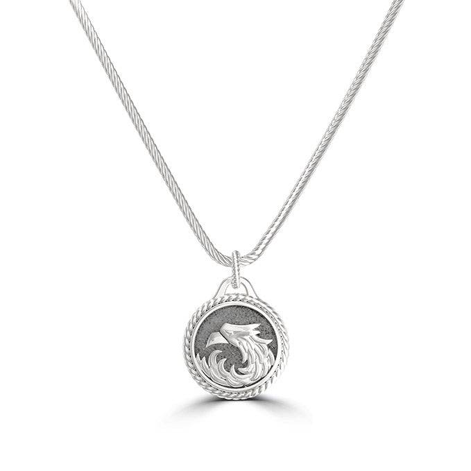 "Bixler UFC Khabib ""The Eagle"" Nurmagomedov Small Pendant in Sterling Silver"