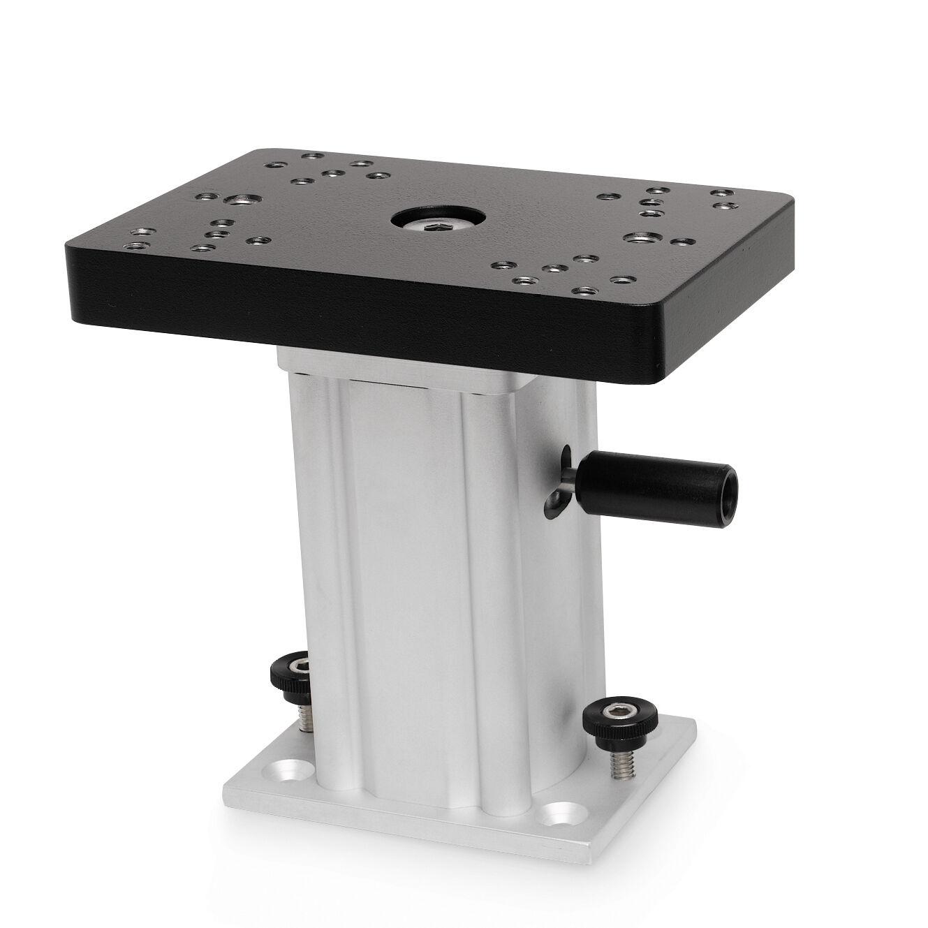 """Johnson Outdoors Aluminum Swivel Base Downrigger Pedestal, 6"""""""