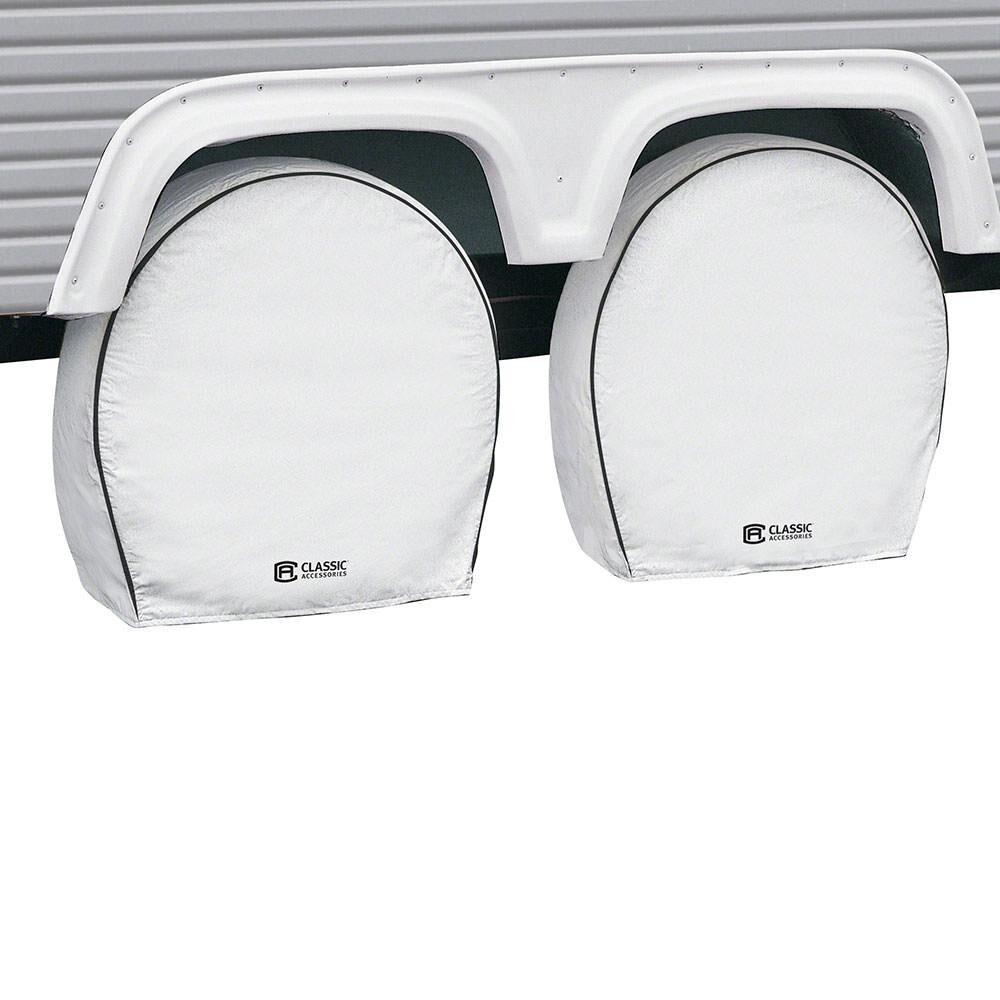 "Classic Accessories OverDrive Deluxe RV Wheel Cover, Wheels 27"" - 30"" Diameter, 8.75 Tire Width, White"
