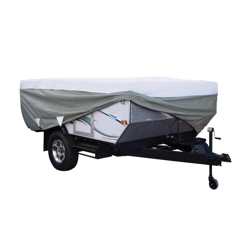 """Classic Accessories PolyPRO 3, Folding Camping Trailer Cover, Up to 8'6"""""""