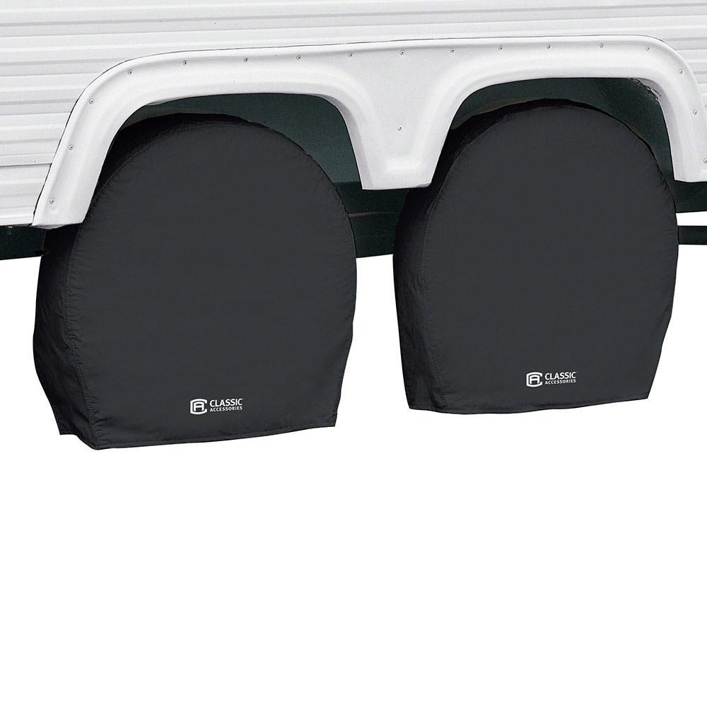 "Classic Accessories OverDrive RV Wheel Cover, Wheels 27"" - 30"" Diameter, 8.75"" Tire width, Black"
